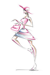 Fashion Design, Sketch Art (Vector Art)