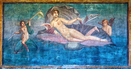 Venus fresco in the Temple of Venus, Pompeii, Italy