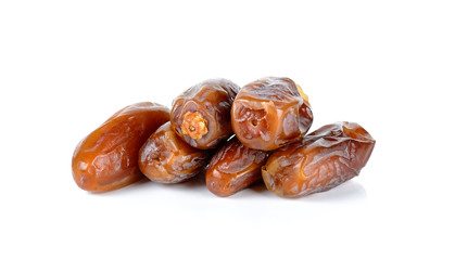 Date palm isolated on the white background