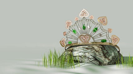Celtic Tiara An Irish inspired tiara featuring Celtic knots and set with emeralds and diamonds