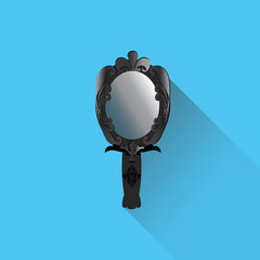 mirror in flat design with shadow
