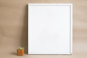white mock up frame