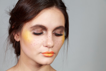 Creative make-up for women