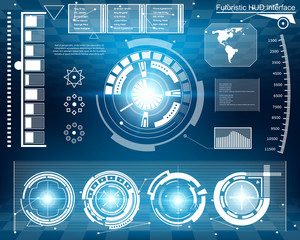 Abstract future, concept vector futuristic virtual graphic touch user interface HUD.