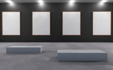 Art Gallery Exhibition blank placard