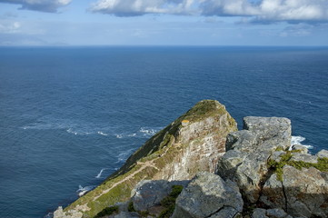 Last rocks of Cape of Good Hope, South Africa