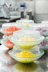 Corn and Carrots Prepped in Commercial Kitchen
