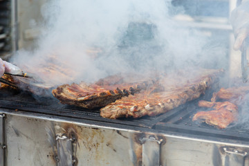 Smoking Ribs on Grill