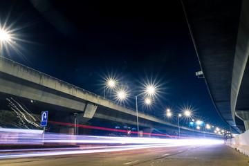 highway light at night Wall mural