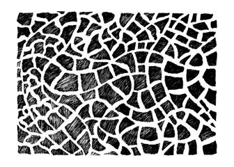 Stock vector hand drawn abstract animal skin imitation print pat