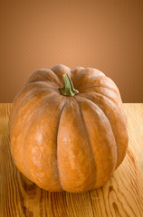image of a ripe pumpkin close-up