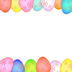 Easter card with painted eggs vector EPS