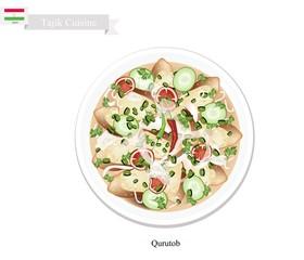 Qurutob, One of Famous Dish in Tajikistan