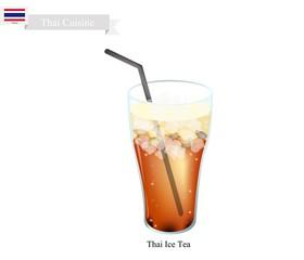 Thai Ice Milk Tea, A Famous Beverage in Thailand