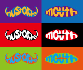 Mustache, mouth, color