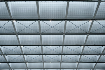 Giant glass roof texture. May be used as a background.