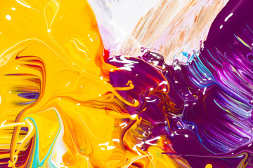 Farbmischung mit Gouache-Farben