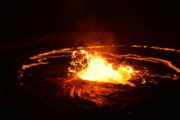 Canvas Prints Volcano Eruption of Erta Ale volcano