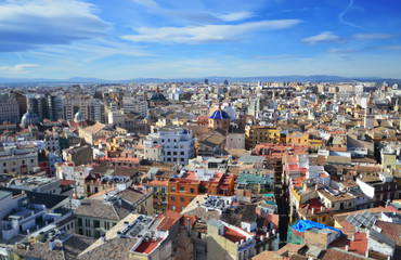 Foto op Canvas Panorama of the city of Valencia ,Spain