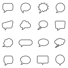 Speech bubbles and dialog balloons