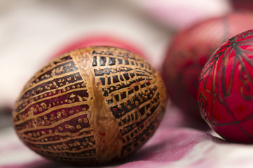 Traditionally made Easter eggs