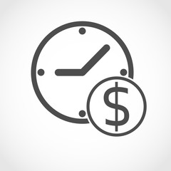 Time is money  - vector illustration.