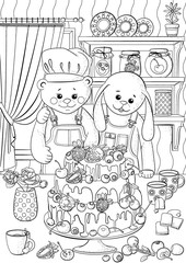 Coloring pages for children and adults with a picture of the holiday.
