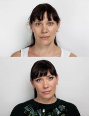 Before after lifting makeup
