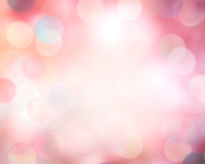 Pink blur defocused bokeh abstract background.