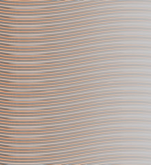 The background of thin black and orange stripes on gray