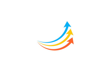 arrow up colorful business logo
