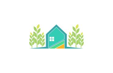 green house garden farm logo