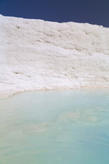 Natural travertine terraces of Pamukkale, Turkey