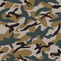Vector illustration of camouflage pattern.