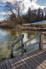Steg am winterlichen Starnberger See