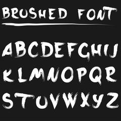 Brushed font white