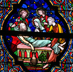 Wall Mural - Stained Glass - Burial of Jesus