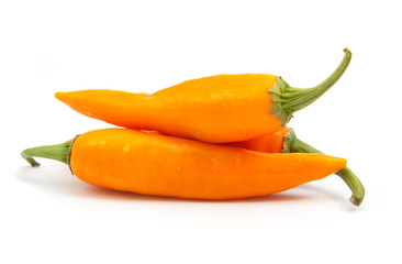 orange hot chili pepper isolated