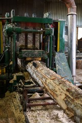 Image of timber machining at sawmill