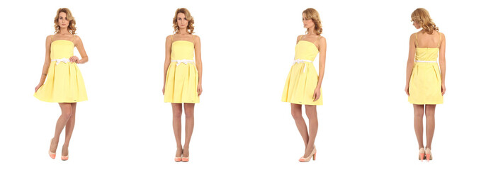 Pretty Woman in yellow dress