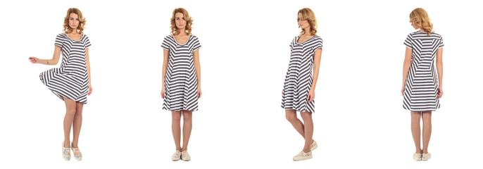 Pretty Woman in striped dress