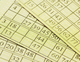 gambling lottery, close-up