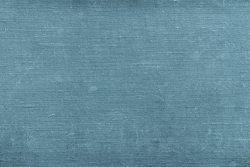 texture old textile material of blue green color with attritions