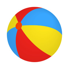 Colorful ball icon, isometric 3d style