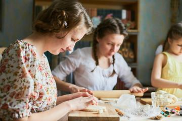 Girls making unique handmade goods