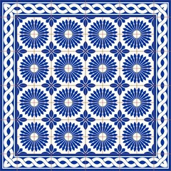 Gorgeous seamless  pattern  white Turkish, Moroccan, Portuguese  tiles and border, Azulejo, Arabic ornament. Islamic art.