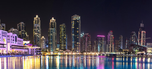 Panorama of Dubai downtown