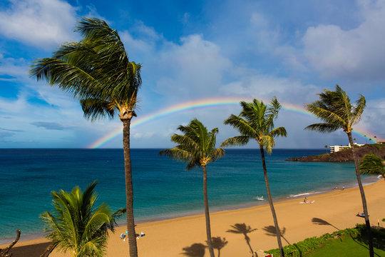 Rainbow over Black Rock, Ka'anapali Beach, Maui