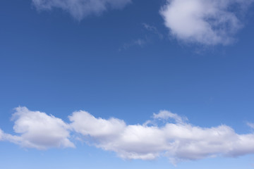 blue sky with clouds 3