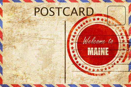 Vintage postcard Welcome to maine